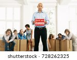 business men holding up a shop... | Shutterstock . vector #728262325