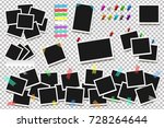 set of realistic square frames  ... | Shutterstock .eps vector #728264644