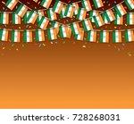 india flags garland dark... | Shutterstock .eps vector #728268031