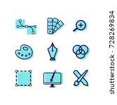 graphic design icons set.... | Shutterstock .eps vector #728269834