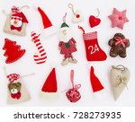 christmas ornaments and... | Shutterstock . vector #728273935
