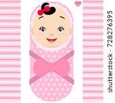 smiling asian baby girl... | Shutterstock .eps vector #728276395