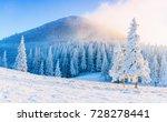 mysterious winter landscape in... | Shutterstock . vector #728278441