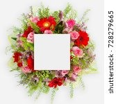 creative layout made of flowers ... | Shutterstock . vector #728279665