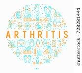 arthritis concept in circle... | Shutterstock .eps vector #728281441