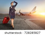 stewardess woman at morning... | Shutterstock . vector #728285827