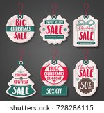 christmas sale price tags... | Shutterstock .eps vector #728286115