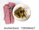 sarma dolma dolmadakia stuffed...   Shutterstock . vector #728286667