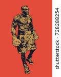 boxer. retro engraving linocut...   Shutterstock .eps vector #728288254