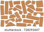 wooden toy blocks  jumbled and...   Shutterstock .eps vector #728292607