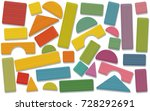 building toy blocks   colored... | Shutterstock .eps vector #728292691