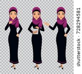 arab business woman character... | Shutterstock .eps vector #728294581