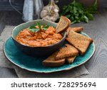 armenian eggplant spread  caviar | Shutterstock . vector #728295694