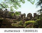 longlin stone forest  chongqing ... | Shutterstock . vector #728300131