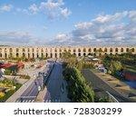 aerial view of uzunkemer... | Shutterstock . vector #728303299