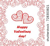 greeting card for valentines... | Shutterstock .eps vector #728303821
