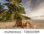 young beautiful couple relaxing ... | Shutterstock . vector #728310589