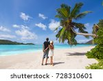 beautiful young couple relaxing ... | Shutterstock . vector #728310601