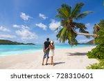 beautiful young couple relaxing ... | Shutterstock . vector #728310601