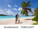 young couple in love kissing... | Shutterstock . vector #728311447
