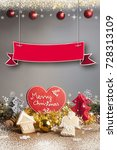 christmas background with... | Shutterstock . vector #728313109