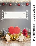 christmas background with... | Shutterstock . vector #728313115