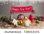 christmas background with... | Shutterstock . vector #728313151