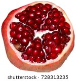 cut the pomegranate with... | Shutterstock . vector #728313235