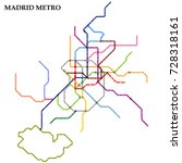 map of the madrid metro  subway ... | Shutterstock .eps vector #728318161