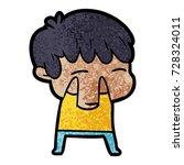 cartoon curious boy   Shutterstock .eps vector #728324011