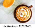 hot cappucchino coffee with... | Shutterstock . vector #728327461