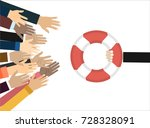helping business to survive.... | Shutterstock .eps vector #728328091