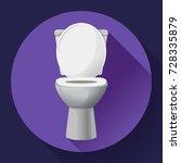 white ceramics vector toilet... | Shutterstock .eps vector #728335879