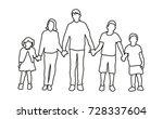 sketch of children vector | Shutterstock .eps vector #728337604