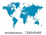 world map | Shutterstock .eps vector #728345485