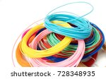 filament for 3d printing   Shutterstock . vector #728348935