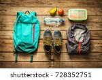 traveling   packing  preparing  ... | Shutterstock . vector #728352751