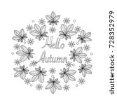Coloring Book Of Autumn Leaves...