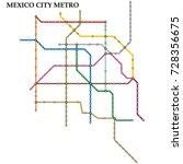 map of the mexico city metro ... | Shutterstock .eps vector #728356675