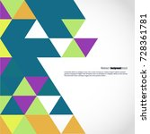 background of geometric shapes. ... | Shutterstock .eps vector #728361781