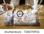 iot  automation  industry 4.0.... | Shutterstock . vector #728370931