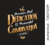 dreams and dedication... | Shutterstock . vector #728372059