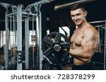 handsome muscular caucasian man ... | Shutterstock . vector #728378299