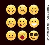 set of smile icons. emoji.... | Shutterstock .eps vector #728388889