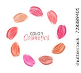 collection of strokes of... | Shutterstock .eps vector #728389405