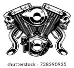 monster engine isolated on... | Shutterstock .eps vector #728390935