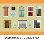 different interior windows of... | Shutterstock .eps vector #728395765
