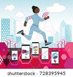 female jogger | Shutterstock .eps vector #728395945