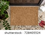 blank doormat before the door... | Shutterstock . vector #728405524