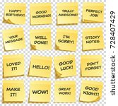 sticky note with text and... | Shutterstock .eps vector #728407429